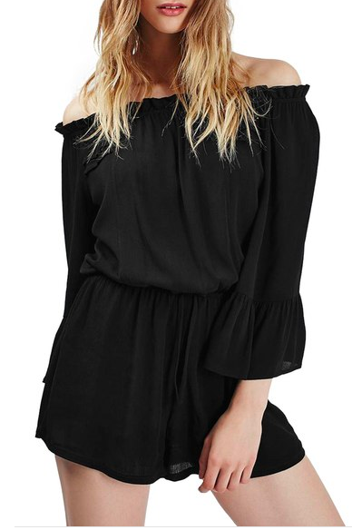 Topshop off the shoulder romper