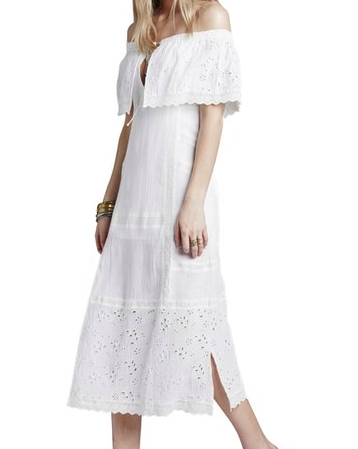 Free People 'Most Beautiful' Off the Shoulder Cotton Midi Dress