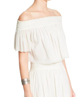 Free People 'Miss Stella' Off the Shoulder Crop Top & Culottes