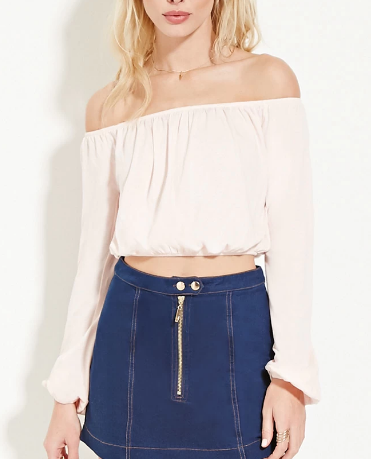 Forever 21 off the shoulder crop top