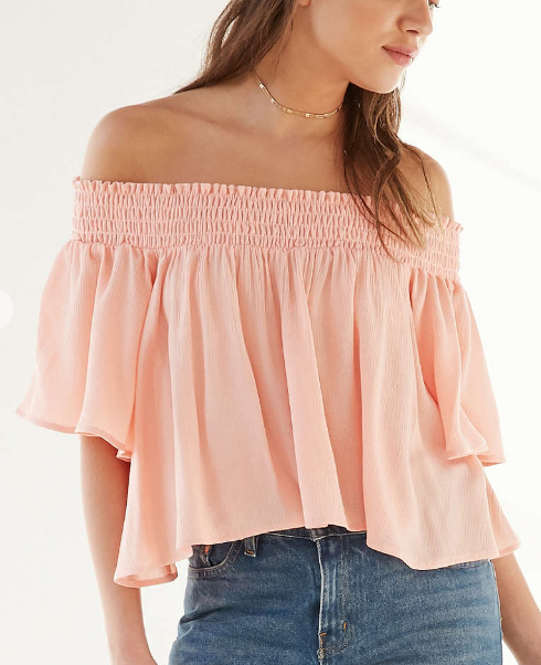 Kimchi Blue Smocked Off-The-Shoulder Top