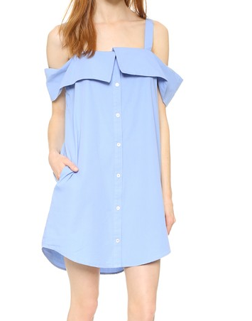Clu Off The Shoulder Shirtdress