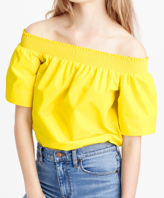 J. CREW COTTON OFF-THE-SHOULDER TOP
