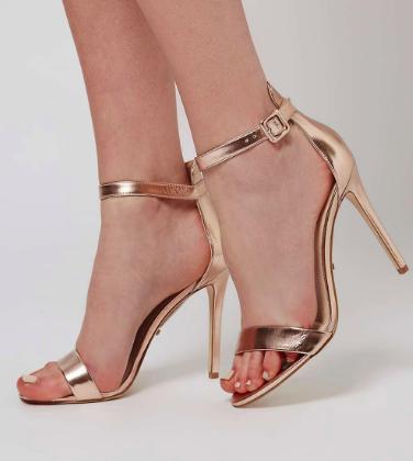 Topshop 'Rita' Ankle Strap Sandal