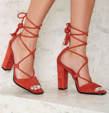 Nasty Gal Rope to Shore Wrap Heel