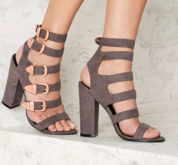 Nasty Gal Full Exposure Suede Heel