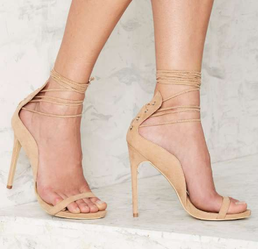 Nasty Gal Easily Swayed Lace-Up Heel
