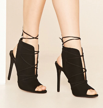 Forever 21 Lace-Up Ankle Booties
