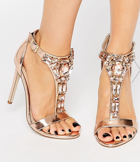ASOS HEIGHTEN Embellished Heeled Sandals