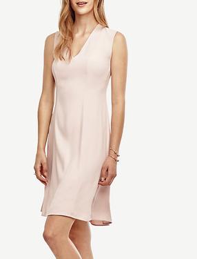 ANN TAYLOR FLARE BLUSH DRESS