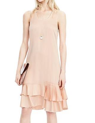 Tiered-Ruffle Drop Waist Dress