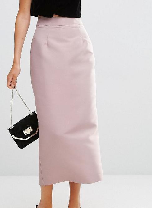 ASOS Premium Satin Maxi Skirt