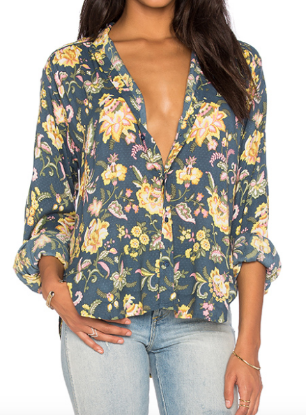 Rollas Camille floral blouse