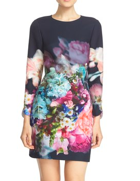 Ted Baker London 'Vyra' Floral Print Tunic Dress