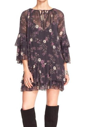 Free People 'Sunsetter' Floral Print Minidress
