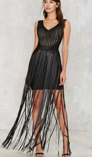 Strands to Myself Fringe Dress