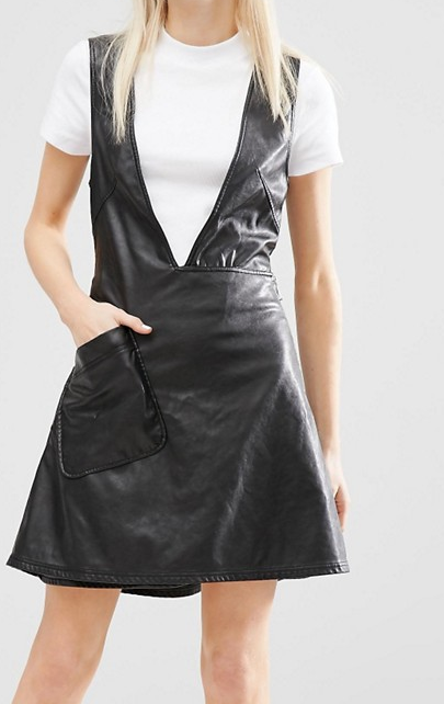 Cheap Monday Leather Look Deep V Neck Dress