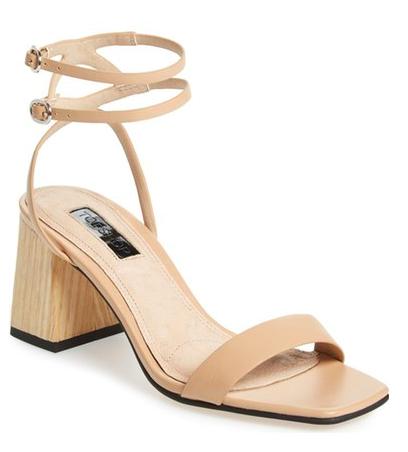 Topshop 'Nipper' Ankle Wrap Sandal