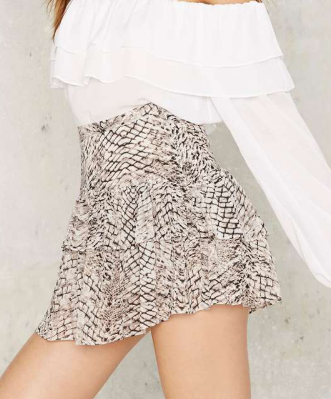 Easy as Python Tiered Mini Skirt