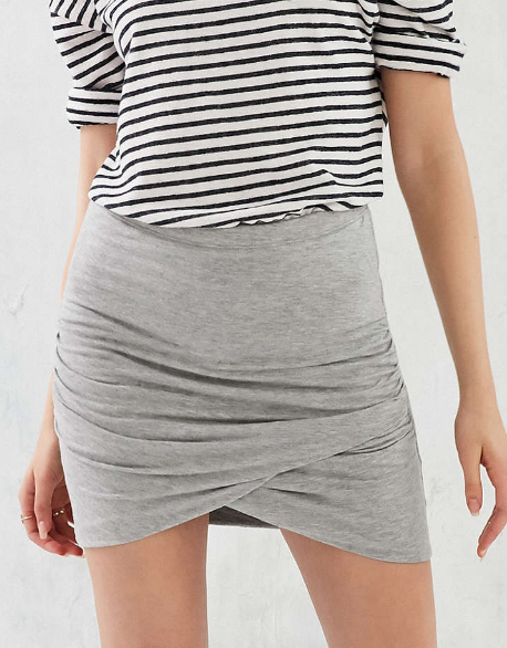 Silence + Noise Tulip Knit Mini Skirt