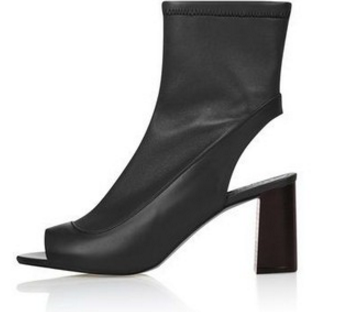 Topshop 'Melon' Cutout Stretch Bootie