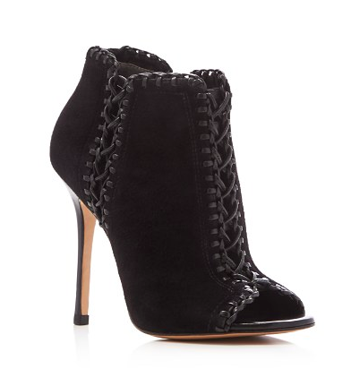 Michael Kors Henley Whipstitched Peep Toe Booties