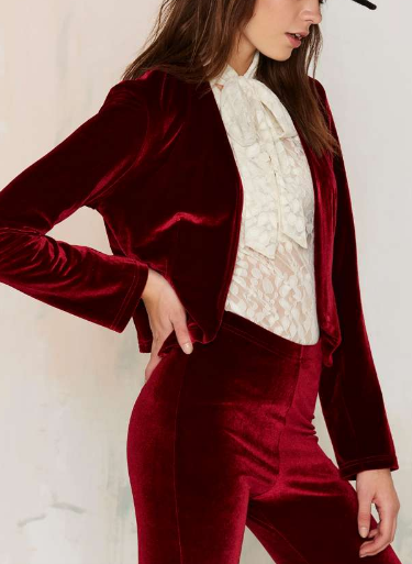 Sugarhigh Lovestoned Hendrix Velvet Blazer