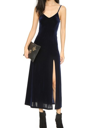 Only Hearts Long Velvet Slip DressOnly Hearts Long Velvet Slip Dress