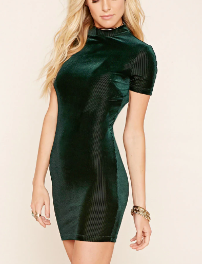Forever 21 Velvet Bodycon Dress
