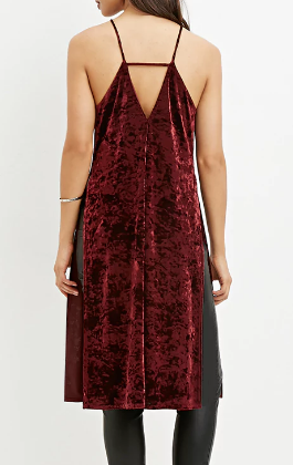 Forever 21 Velveteen High-Slit Tunic