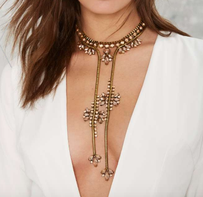 Truth is Gold Lariat Necklace