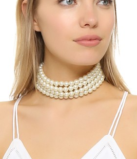 Kenneth Jay Lane 4 Strand Choker Necklace