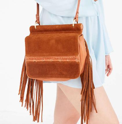 SANCIA Brigitte Fringe Crossbody Bag
