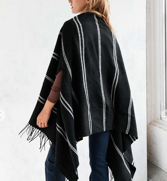 BDG Soft Stripe Poncho