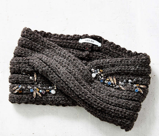 UO Embellished Twist Ear Warmer