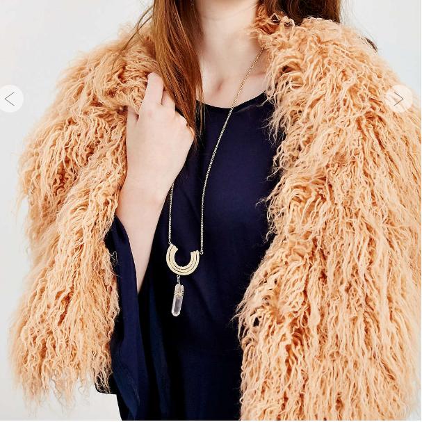 Mongolian Faux Fur Collar Scarf