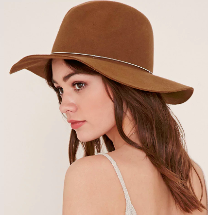 FOREVER 21 Metal-Band Wool Fedora