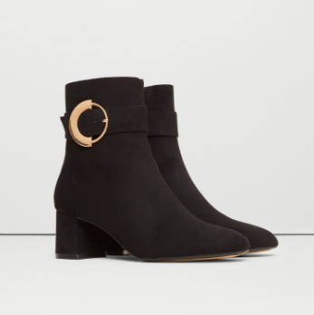 Mango Decorative buckle boots