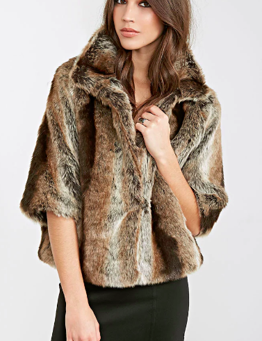 Forever 21 High-Collar Faux Fur Jacket