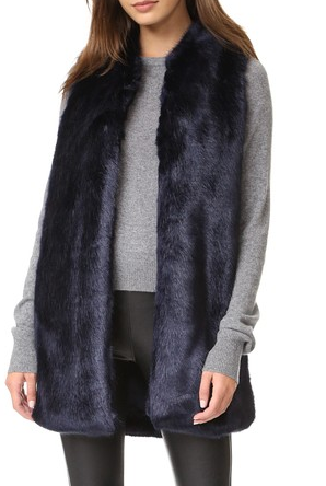Amanda Uprichard Faux Fur Vest