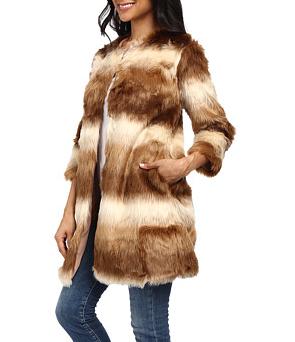 Brigitte Bailey Evelina 3/4 Sleeve Faux Fur Coat