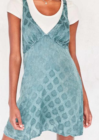 Kimchi Blue Sophia Jacquard Mini Slip Dress