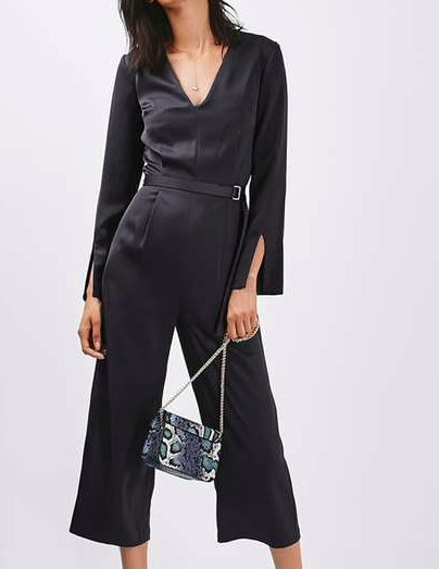 TOPSHOP Satin Jumpsuit