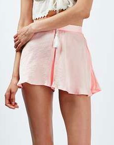 Satin Flippy Shorts by Band of Gypsies