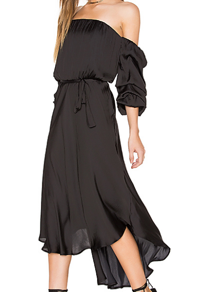 CAUGHT SLEEVE DRESS BARDOT