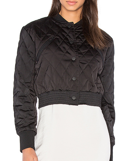 QUILTED SATIN BOMBER KENDALL + KYLIE