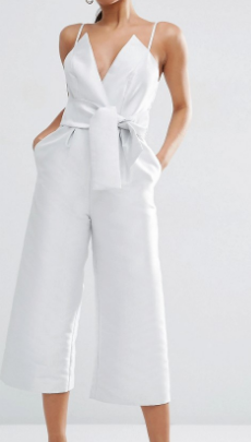 ASOS Occasion Bonded Satin Jumpsuit