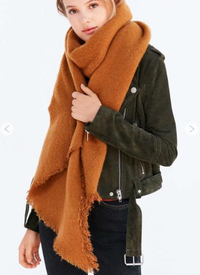 Nubby Blanket Oblong Scarf