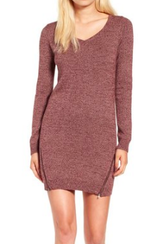 BP. Zip Detail Sweater Dress
