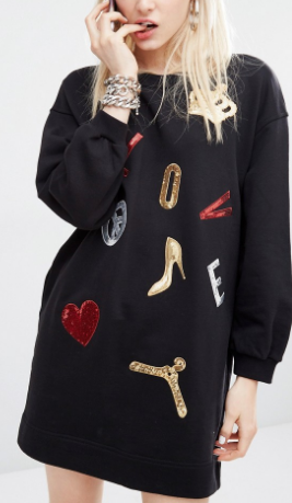 Love Moschino Embellished Sweater Dress